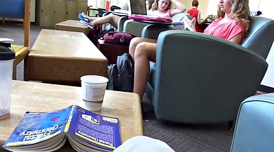 Candid, Library, Legs, Foot fetishism, Candids, Teen foot