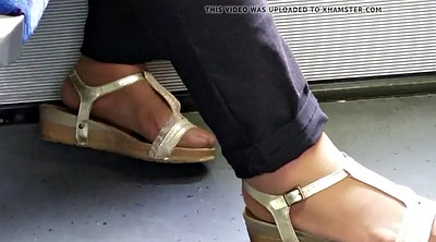 Nylon feet, Toenail, Nylon foot, Asian granny, Asian grannies
