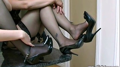 Shoes, Nylon foot, High-heeled shoes, High heeled