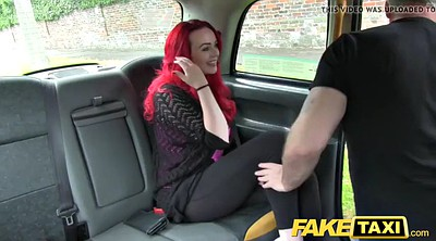Taxi, Huge tits, Fake, Fake tits