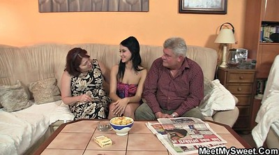Young couple, Young old, Mature threesome, Mature couple