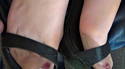 Nylon, Shoes, Stocking feet, Black feet, Cum on nylon, Nylon cum