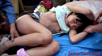 Japanese outdoor, Gangbang asian