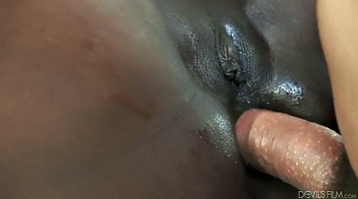 Interracial, White, Close up anal, Blacked anal