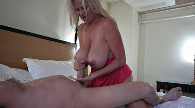 Mom, Stepson, Mom handjob, Big mom, Big breast