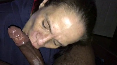 Old milf, Deep throating