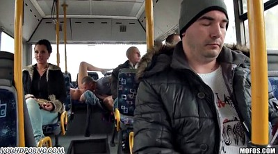 Bus, School, Public blowjob
