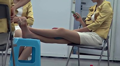 Nylon, Nylon foot, Asian foot, Feet asian, Hostess, Asian feet