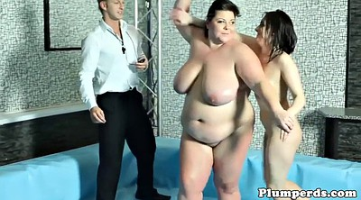 Fight, Wrestling, Chubby dildo, Bbw dildo