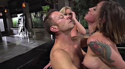 Spanked, Breast, Blonde milf, Big dick anal, Rachel, Rocco threesome