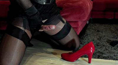 Nylon feet, Gay feet, Crossdresser, Nylon foot