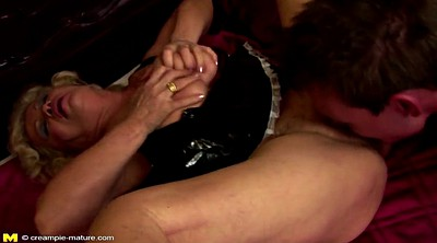 Granny boy, Hairy creampie, Granny and boy, Young creampie