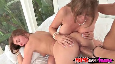 Daughter, Hot mom, Daughter handjob