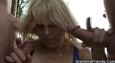 Old, Wife threesome, Granny swallow