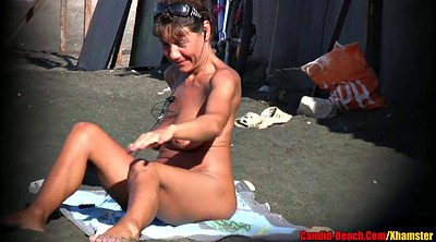 Latina milf, Beach mature