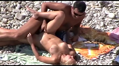 Beach voyeur, Public couple, Nudists, Caught public