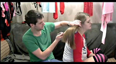Long hair, Hair pulling, Brush