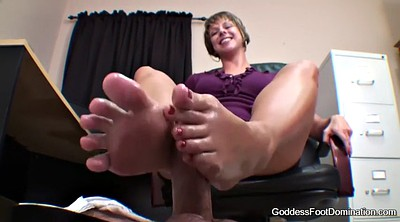 Feet pov, Under table, Goddess, Footjob under table, Footing