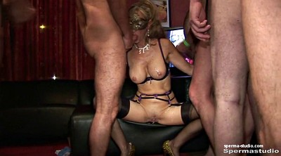 Cum in mouth, Gangbang milf