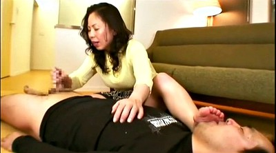 Mature feet, Asian handjob, Asian feet