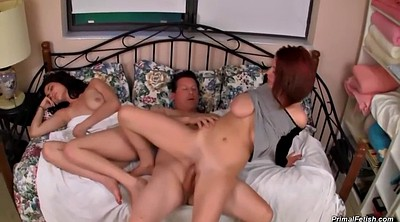 Sleeping, Sleep, Daughter, Step mom, Sleeping milf