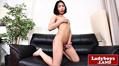 Ass solo, Ladyboy solo, Asian masturbation