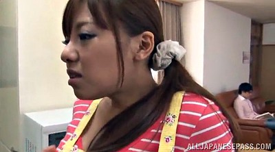 Kitchen, Asian housewife, Asian deep throat