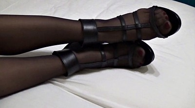 Heels, Stocking footjob, Stocking feet, Foot stocking, Ebony footjob, Stockings footjob