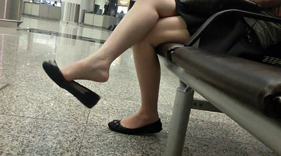 Asian feet, Asian foot, Shoeplay, Candid feet, Dangling, Foot asian