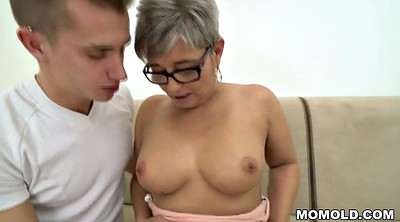 Grandma, Mature deepthroat, Young throat
