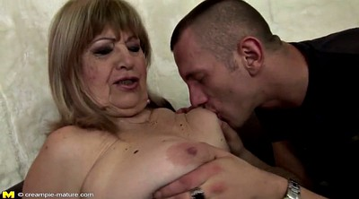 Mature and young boy, Grandma anal, Creampie granny
