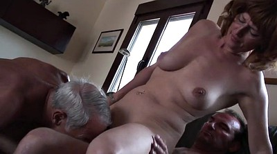 Mature threesome, Amateur threesome
