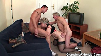 Very young, Very old granny, Mature threesome