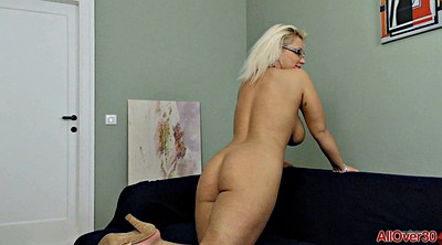 Glasses, Strip, Natural tits, Kinky