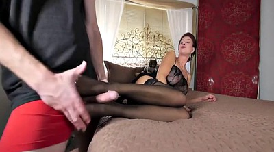 Footjob, Nylon footjob, Nylon feet, Mommy, Nylon foot, Nylons footjob