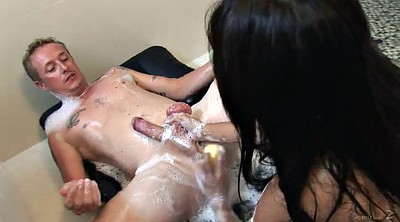 Asian blowjob, Asian shower, Asian babe, Tit licking, Shower pussy