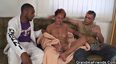Granny threesome, Mature swallow, Granny swallow