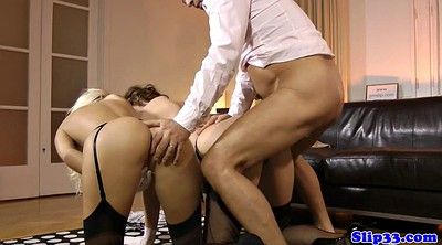 Mature threesome, British mature