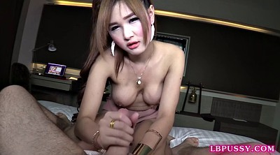 Shemale creampie, Bareback, Vicky, Young shemale