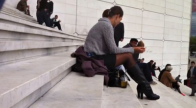 Stairs, Sexy pantyhose, Black woman, Black pantyhose
