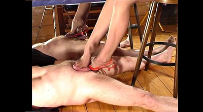 Footjob, Stockings feet, Sexy feet, High-heeled, Femdom footjob