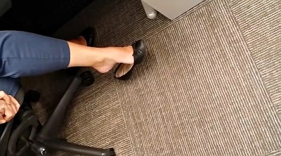 Masturbation, Ballet, Hidden masturbation, Flat, Office cam, Office foot