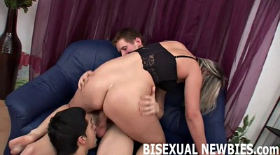 Bisexual, Threesome kissing, Gay first time, First time threesome, Bisexual threesome