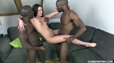 Pale, Handjobs, Couple threesome, Close, Massive cumshot, Interracial couple
