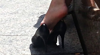 Shoes, Shoe, Upskirts, Candid, High-heel shoe, Candid feet