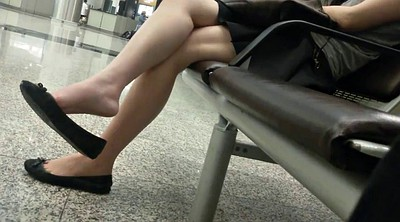Leg, Asian foot, Sexy asian, Candid