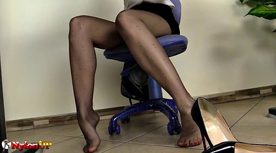 Pantyhose, Ebony masturbation, Magic, Black pantyhose