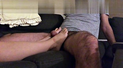 Wife, Foot fuck, Feet masturbate, Cum on feet