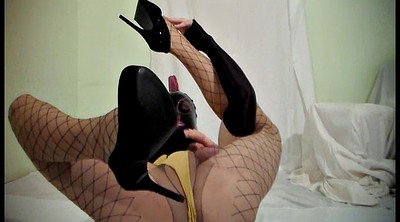 Pantyhose cum, Mask, Shemale pantyhose, Shemale latex, Latex shemale