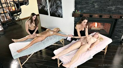 Naked, Bra, Two girls, Lesbian foursome